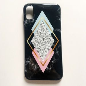 Accessories - NEW iPhone X Case Geometric Dotted Marble Diamond